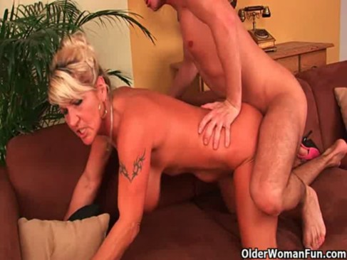 image Two senior single dikes warm up before a black cock joins th