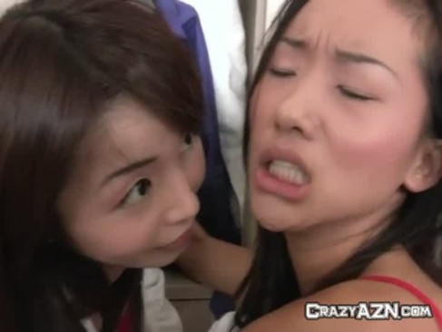 Two Pretty Japanese Schoolgirls Get Fucked Hard In School